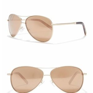 Joe's Jeans Gold 62mm Aviator Sunglasses